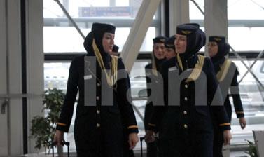 مهماندار هواپیما مسیر ایرانی